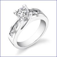 Gregorio 18K WG Diamond Engagement Ring R-190-2