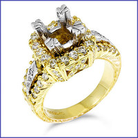 Gregorio 18K Yellow Engagement Diamond Ring R-193