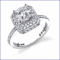 Gregorio 18K WG Diamond Engagement Ring R-242-1