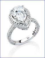 Gregorio 18K White Diamond Engagement Ring R-248