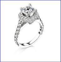 Gregorio 18K White Diamond Engagement Ring R-256E