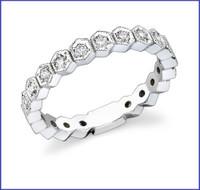 Gregorio 18K WG Diamond Engagement Band R-282