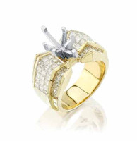Gregorio 18K Yellow Gold Diamond Engagement Ring R-3167