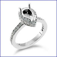Gregorio 18K White Engagement Diamond Ring R-317