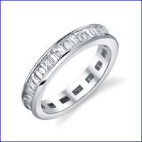 Gregorio 18K WG Diamond Engagement Band R-320-2
