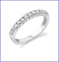 Gregorio 14K WG Diamond Engagement Band R-322