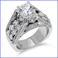 Gregorio 18K WG Diamond Ring R-354