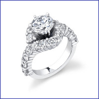 Gregorio 18K WG Diamond Engagement Ring R-387-1