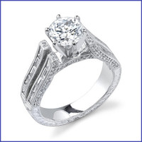 Gregorio 18K WG Diamond Engagement Ring R-388