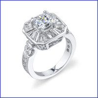 Gregorio 18K WG Diamond Engagement Ring R-394