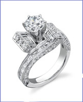 Gregorio 18K WG Diamond Engagement Ring R-405
