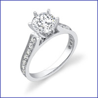 Gregorio 18K WG Diamond Engagement Ring R-407
