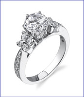 Gregorio 18K WG Diamond Engagement Ring R-410