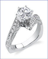 Gregorio 18K WG Diamond Engagement Ring R-413