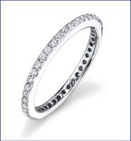 Gregorio 18K WG Diamond Engagement Band R-425