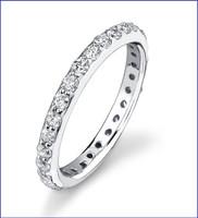 Gregorio 18K WG Diamond Engagement Band R-425-1