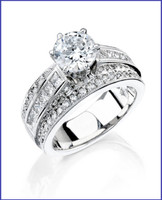 Gregorio 18K WG Diamond Engagement Ring R-4356