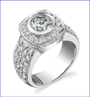 Gregorio 18K WG Diamond Engagement Ring R-436