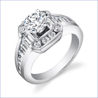 Gregorio 18K WG Diamond Engagement Ring R-437