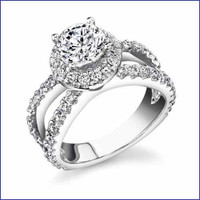 Gregorio 18K WG Diamond Engagement Ring R-466-1