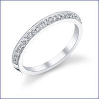 Gregorio 18K WG Diamond Engagement Band R-507