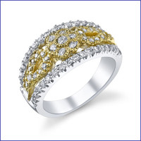 Gregorio 18K 2Tone Gold Diamond Engagement Band R-509