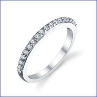 Gregorio 18K WG Diamond Engagement Band R-551