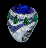 Mousson Atelier Ladya Collection Gold Tanzanite Ring R0045-0/1