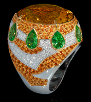 Mousson Atelier Ladya Collection Gold Citrine Ring R0045-0/3