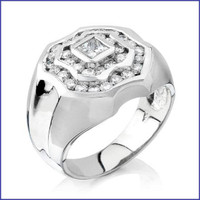 Gregorio 18K WG Men's Diamond Ring SA-1487