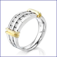Gregorio 14K 2 Tone Men's Diamond Ring SA-3