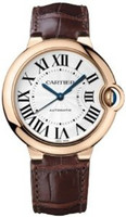 Cartier Ballon Bleu Medium (RG/Silver/ Leather)