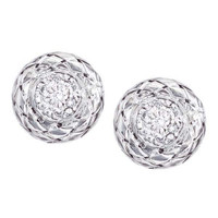 18Kt/Sterling Silver Traversa Small Round Earring