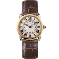 Cartier Ronde Louis Small (RG/Silver/Leather)