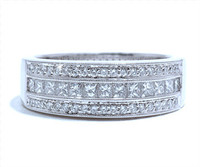 7 mm Diamond Ring In 18k White Gold