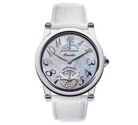 Pineider Ladies Watch With White Leather Strap