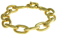 Herco Bracelets 14KT Yellow Oval Link 10.5mm
