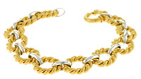 Herco Bracelets 14KT White & Yellow Links 12.5mm 14ALBR54WY75