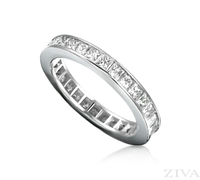 Ziva Princess Cut Diamond Eternity Ring