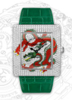 Franck Muller Infinity Dragon WG Quartz Diamond Watch 3740 QZ DRG D CD
