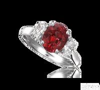 Ziva Ruby 3-Stone Ring