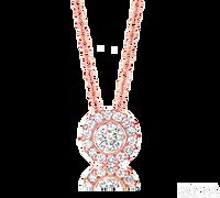 Ziva RG Diamond Pendant with Halo