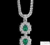 Ziva Pear Emerald Pendant