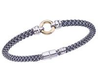 Sterling Silver Cortona Bracelet With 18K Gold Circle Center