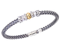Sterling Silver Cortona Braid Bangle Bracelet