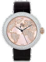 Jacob & Co Crystal Quartz Steel Diamond Watch CR47SRWRM-F