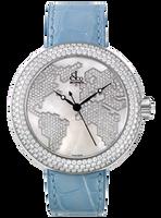 Jacob & Co Crystal Quartz Steel Diamond Watch CR47WW-4