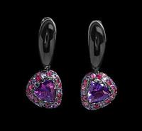 Mousson Atelier Riviera Gold Amethyst Earrings E0073-4/2