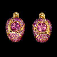 Mousson Atelier Riviera Gold Pink Tourmaline Earrings E0074-3/10