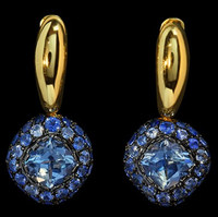 Mousson Atelier Riviera Gold Aquamarine Earrings E0074-4/11